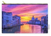 Venice Grand Canal At Sunset Carry-all Pouch