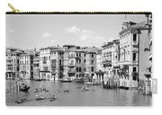 Venice In Black And White Carry-all Pouch