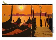 Venice In Orange Carry-all Pouch