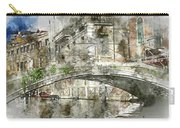 Venice Italy Digital Watercolor On Photograph Carry-all Pouch