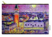 Venice Night View Modern Textural Impressionist Stylized Cityscape Carry-all Pouch