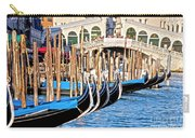 Venice Sunny Rialto Bridge Carry-all Pouch