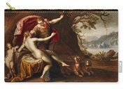 Venus And Adonis With Hounds Carry-all Pouch