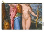 Venus And Minerva In A Landscape Carry-all Pouch