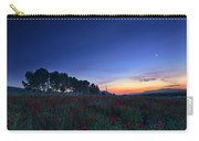Venus And Moon Over Spring Poppies Carry-all Pouch
