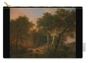 Verboeckhoven  Eugene   Forest Landscape With Animals Carry-all Pouch