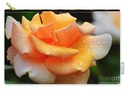 Variegated Yellow Rose Carry-all Pouch