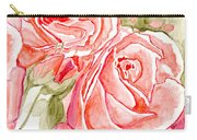 Vermilion Pink Roses Carry-all Pouch