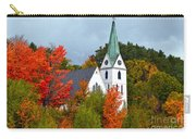 Vermont Church In Autumn Carry-all Pouch by Catherine Sherman