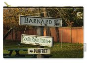 Vermont Crossroads Signs Carry-all Pouch