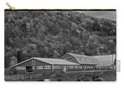 Vermont Farm With Cows Autumn Fall Black And White Carry-all Pouch
