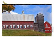 Vermont Farm Woodstock Vt Red Barn Carry-all Pouch