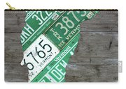 Vermont License Plate Map Art Edition 2017 Carry-all Pouch