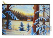 Vermont Log Cabin Maple Syrup Time Carry-all Pouch