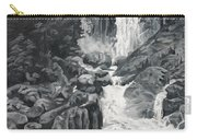 Vernal Falls Black And White Carry-all Pouch