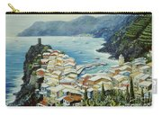 Vernazza Cinque Terre Italy Carry-all Pouch by Marilyn Dunlap