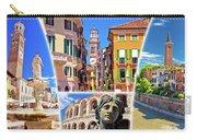 Verona Colorful Tourist Landmarks Postcard  Carry-all Pouch