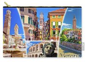Verona Tourist Landmarks Postcard With Label Carry-all Pouch