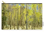 Vertical Aspen Forest Carry-all Pouch