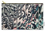 Vertical Graphic Layers Carry-all Pouch