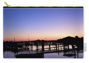 Vertical Pre-dawn Stillness At The Marina 13670 Carry-all Pouch