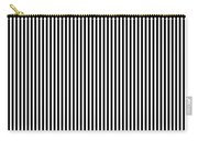 Vertical Stripes In Black And White Carry-all Pouch
