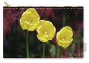 Very Blooming And Flowering Trio Of Yellow Tulips Carry-all Pouch