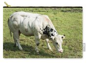 Very Muscled Cow In Green Field Carry-all Pouch