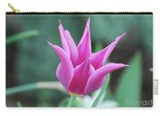 Very Pretty Blooming Pink Spikey Tulip Flower Blossom Carry-all Pouch