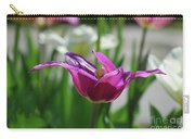 Very Pretty Blooming Purple Tulip With Spikey Petals Carry-all Pouch