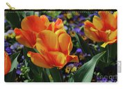 Very Pretty Colorful Yellow And Red Striped Tulip Carry-all Pouch