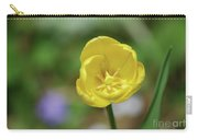 Very Pretty Flowering Yellow Tulip Blooming In A Garden Carry-all Pouch