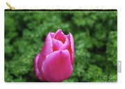 Very Pretty Garden With A Dark Pink Tulip Carry-all Pouch