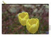 Very Pretty Pair Of Flowering Yellow Tulip Blossoms Carry-all Pouch