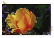 Very Pretty Yellow And Red Tulip Flower Blossom Carry-all Pouch
