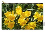 Very Sunny Yellow Flowers Carry-all Pouch