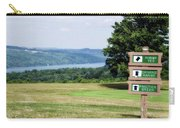 Vesper Hills Golf Club Tully New York 1st Tee Signage Carry-all Pouch