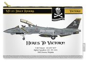 Vf-103 Jolly Rogers Carry-all Pouch