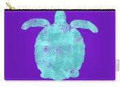 Vibrant Blue Sea Turtle Beach House Coastal Art Carry-all Pouch