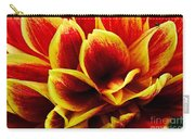 Vibrant Dahlia Petals Carry-all Pouch