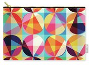 Vibrant Geometric Abstract Triangles Circles Squares Carry-all Pouch
