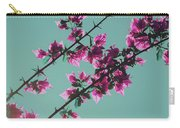 Vibrant Pink Flowers Bloom Floral Background Carry-all Pouch