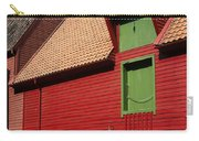 Vibrant Red And Green Building Carry-all Pouch