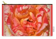 Vibrant Two Toned Rose With Design Carry-all Pouch