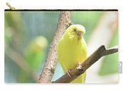 Vibrant Yellow Budgie Parakeet In The Summer Carry-all Pouch