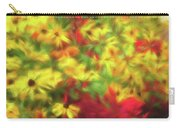 Vibrant Yellow Daisies And Red Garden Flowers Carry-all Pouch