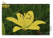 Vibrant Yellow Lily Thriving In The Spring Carry-all Pouch