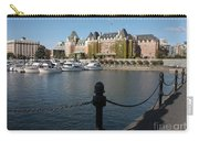 Victoria Harbour With Railing Carry-all Pouch by Carol Groenen