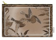 Victorian Birds In Sepia Carry-all Pouch
