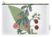 Victorian Botanical Illustration Of Foxglove And Common Raspberry Carry-all Pouch